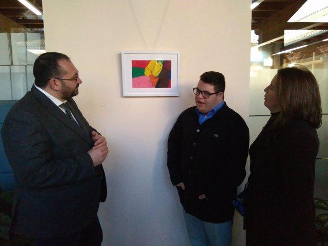 Exposición de un alumno del Centro de Educación Especial Jean Piaget