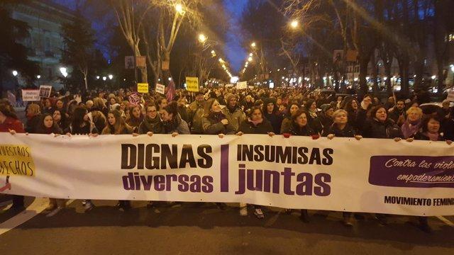 Manifestación con motivo del Día de la Mujer en Madrid