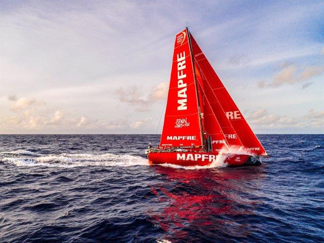El 'MAPFRE' navegando en la cuarta etapa de la VOR