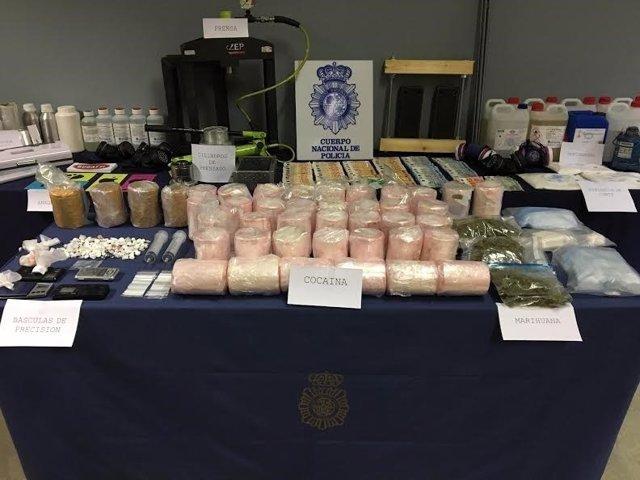 La Policía se incauta de cocaína oculta en piñas