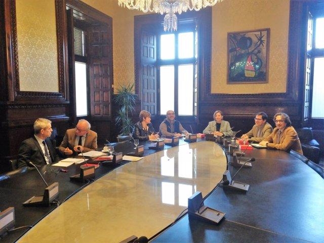 Ultima Mesa del Parlament presidida por Carme Forcadell