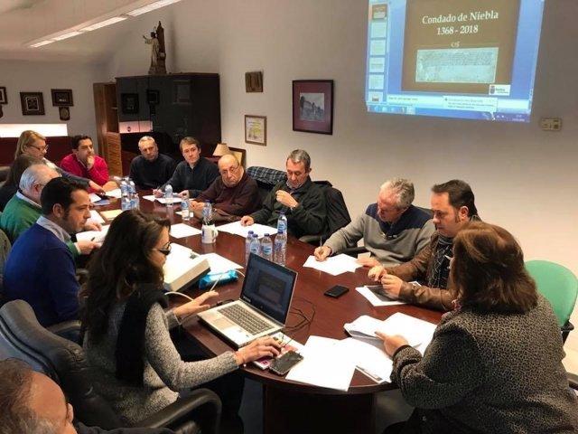 Reunión para organizar la celebración del 650 aniversario del Condado de Niebla.