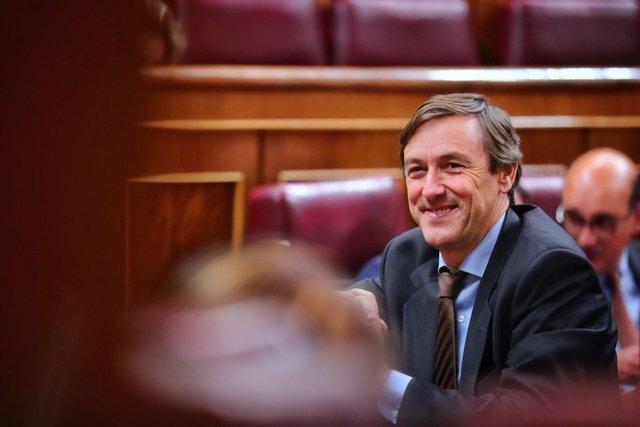 Rafael Hernando, sonriente