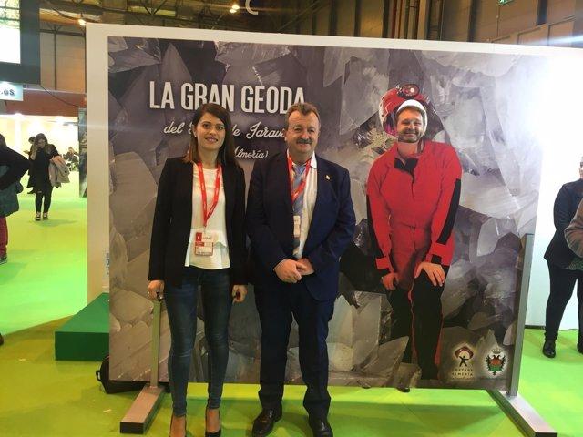 La Geoda de Pulpí se puede visitar virtualmente en el stand de Almería en Fitur.