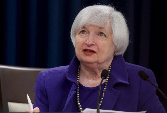 La rpesidenta de la Fed, Janet Yellen