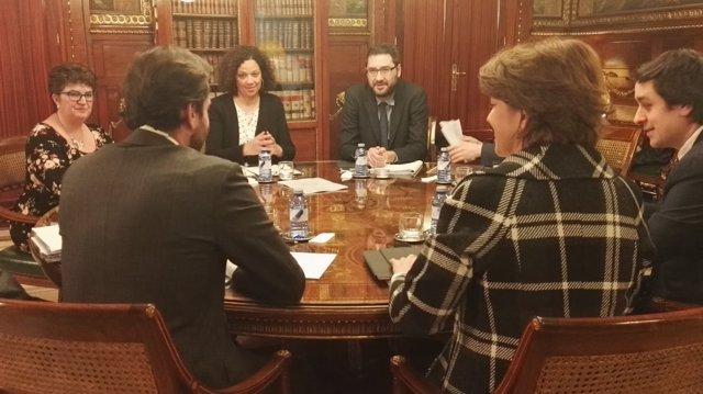 Cladera durante la reunión