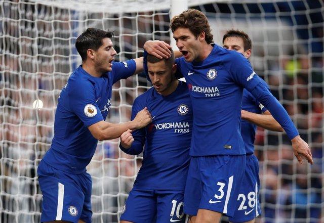 El Chelsea gana en Premier League. Morata, Hazard y Marcos Alonso