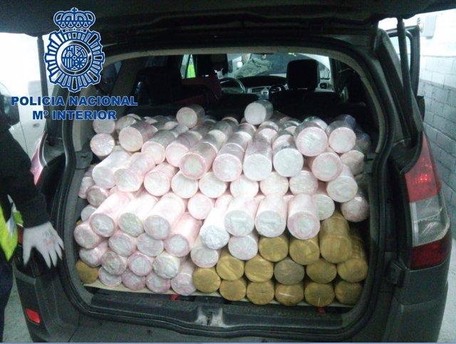 Operación con nueve detenidos y 745 kilos de cocaína incautados