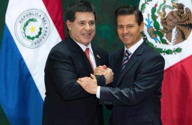 Horacio Cartes y Peña Nieto