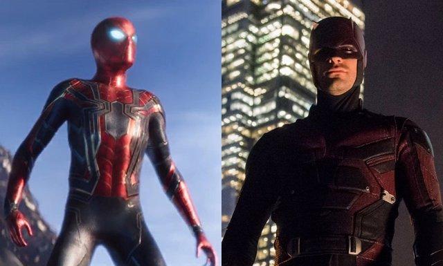 Daredevil y Spiderman en Infinity War