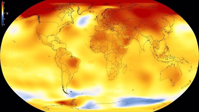 Calentamiento global en los últimos cinco años