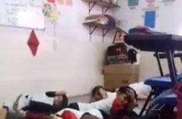 Así actúa una maestra en medio de un tiroteo en México para calmar a sus alumnos