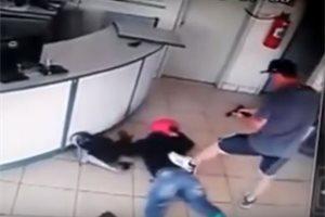 La alucinante puntería de un policía brasileño evita un robo en una gasolinera de Paraná