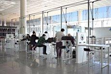 L'Aeroport de Barcelona amplia les zones de treball per a passatgers (AENA)