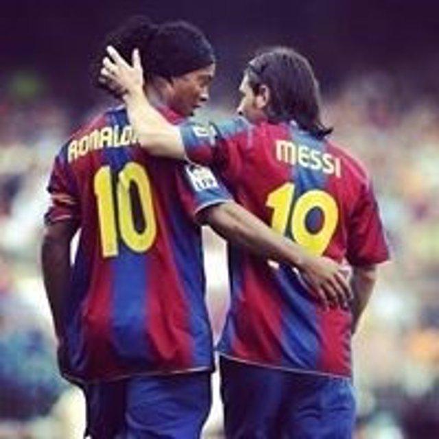 Ronaldhino y Lionel Messi