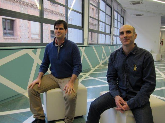 Els investigadors Fabián Vázquez-Sancho i Gustau Catalan