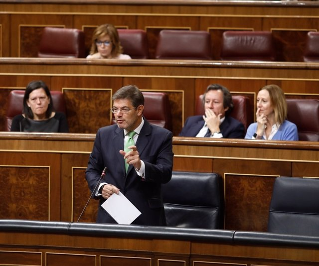 Rafael Catalá, en la sesión de control