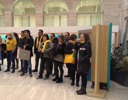 Empleats de la Generalitat protesten contra l'