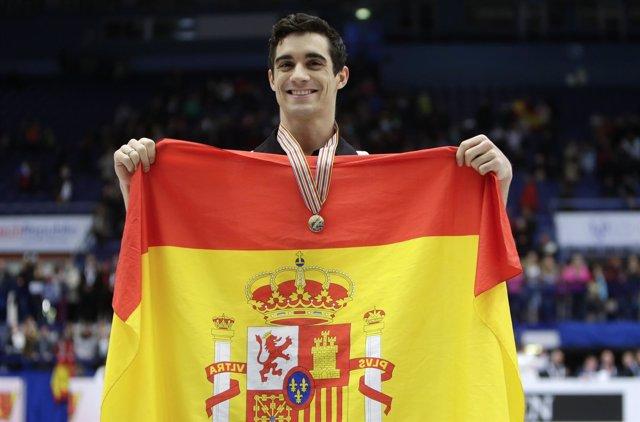 El español Javier Fernández, campeón de Europa por sexto año consecutivo