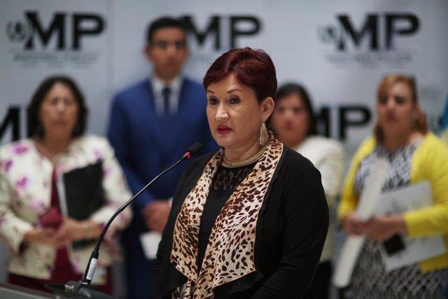 La fiscal general de Guatemala,Thelma Aldana.