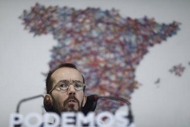 """Echenique diu que el """"pantà"""" del PP arriba a Ciudadanos però """"també al PSOE"""" (Europa Press)"""