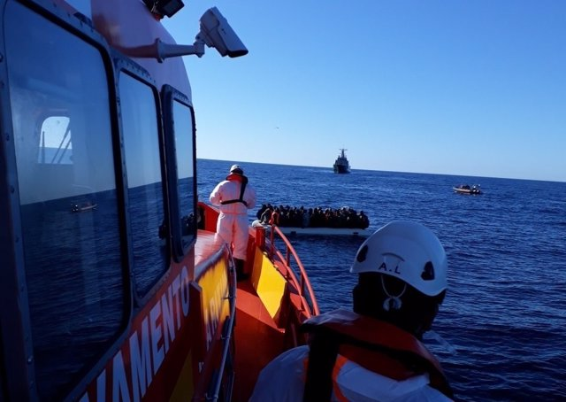 Salvamar Spica, en un rescate en diciembre de 2017