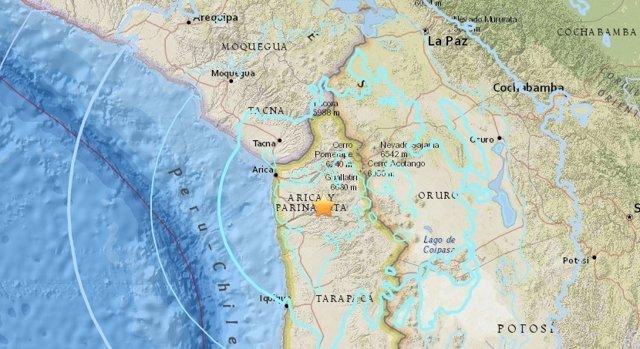 Registrado un terremoto de magnitud 6,3 en el norte de Chile