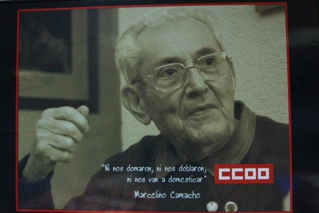 Cartel Marcelino Camacho, CCOO, Comisiones Obreras