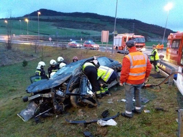 Accidente de tráfico en Monreal
