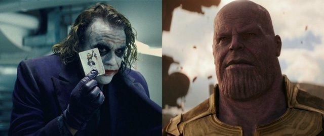 Joker y Thanos compiten por el título a mejor villano