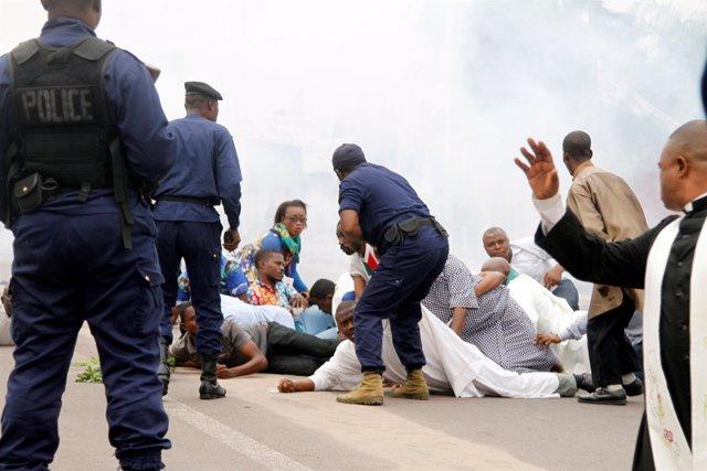 Protestas en República Democrática del Congo