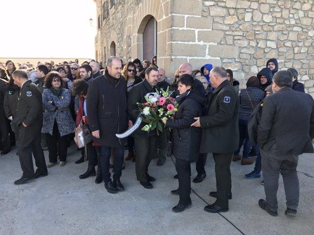 Acto de conmemoración del primer aniversario de la muerte de dos agentes rurales