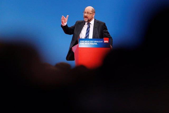 Martin Schulz, congreso del SPD