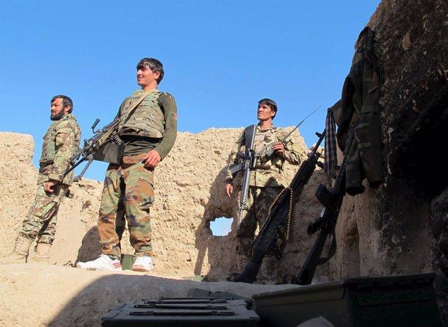 Soldados afganos en la provincia de Helmand