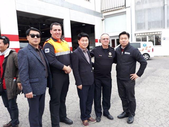Visita de técnicos de Corea del Sur a Bomberos de Granada