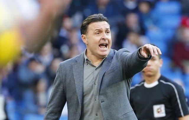 El entrenador del Deportivo de La Coruña, Cristóbal Parralo