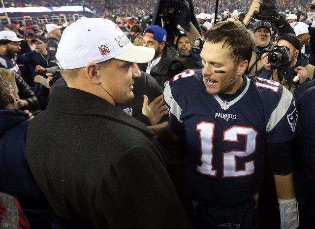 New England Patriots Tom Brady Rob Gronkowski