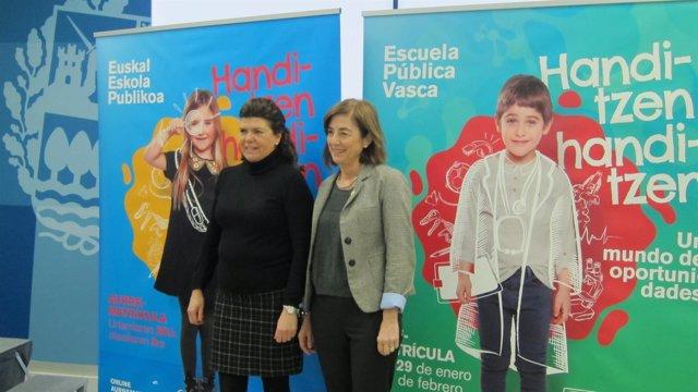 Maite Alonso y Cristina Uriarte