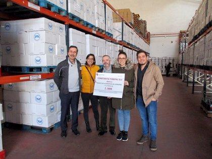 La empresa Constantia Tobepal S. L. U. dona al Banco de Alimentos de La Rioja 2.180 euros