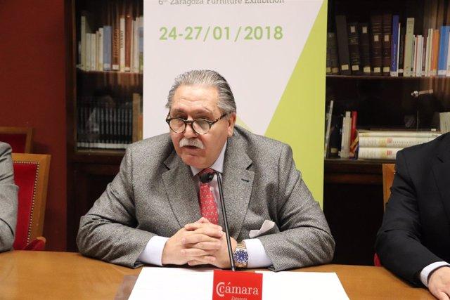 El presidente de la Feria de Zaragoza, Manuel Teruel.