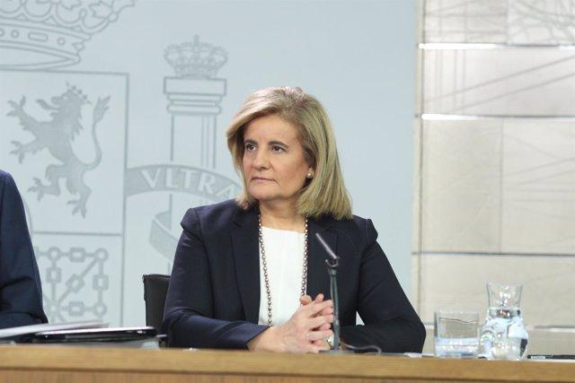 Rueda de prensa de Fátima Báñez tras el Consejo de Ministros