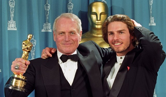 Paul Newman y Tom Cruise