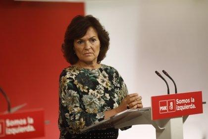 """Calvo (PSOE) considera que Rajoy ha ido """"demasiado lejos"""" con el """"insulto"""" a las mujeres sobre la brecha salarial"""