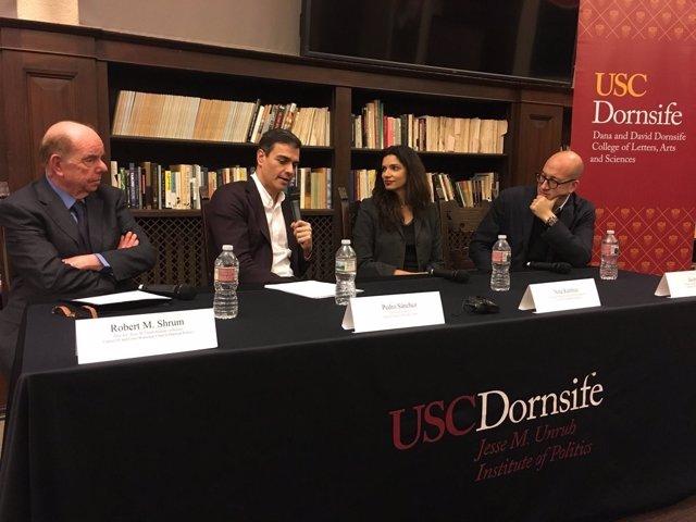 Pedro Sánchez, en la USC de California