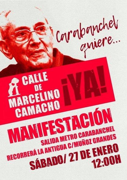 Vecinos de Carabanchel se manifestarán para que el Ayuntamiento cambie ya la calle Muñoz Grandes por Marcelino Camacho