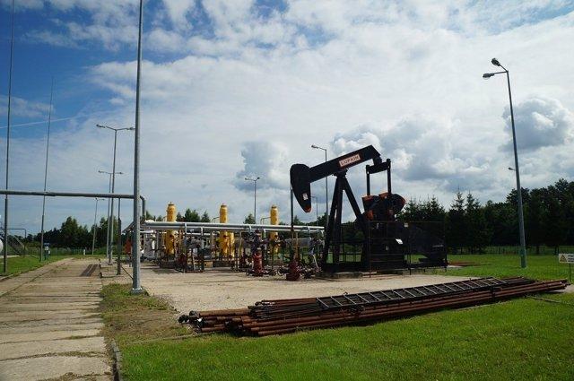 Crudo mina de petróleo, gas natural