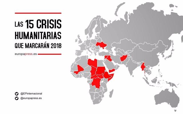 Mapa de las crisis humanitarias que marcarán el año