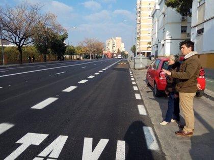 El Ayuntamiento de Sevilla finaliza en el Polígono San Pablo la pavimentación de la calle Ada