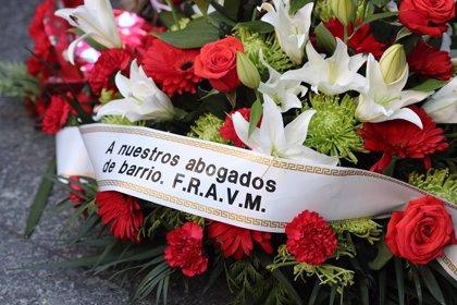 Los abogados de Atocha serán homenajeados este sábado en diversos actos por el 41º aniversario de su asesinato
