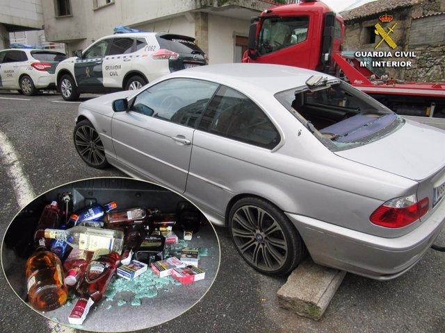 Vehículo utililzado por los sospechosos de robos en O Salnés